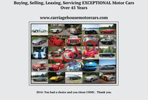 Carriage House Motor Cars - Greenwich, CT / Buying, Selling, Leasing, Servicing Exceptional Motor Cars for Over 45 Years!!!