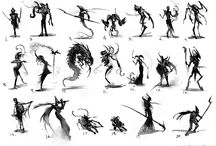 silhouettes and thumbnails