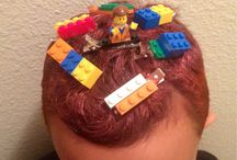 Crazy hair day for boys at school
