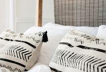 Mud cloth cushions