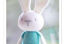Crochet toy - faces