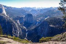 Glacier Point - Yosemite Park / Photos prises depuis le point de vue de Glacier Point dans le parc national de Yosemite aux USA