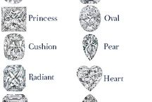 4 C's: Cut, Color, Clarity & Carat / Shape, brilliancy, and size! There is so much to know about buying your perfect diamond!