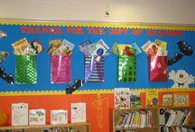 Bulletin boards/door decoration / by Nikki Myogeto