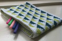 crochet pouchs ,  bags and purse