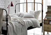 Bedroom / Iron bed styling, bedding, arrangement and decor