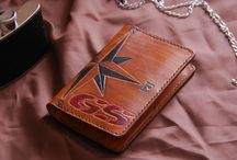 BMW GS leather wallet