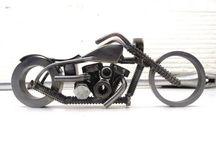 motocykle art metal