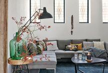 Woonkamer / Sfeerbeelden van prachtige woonkamers en unieke oude brocante kasten, tafels, stoelen en accessoires voor de woonkamer. Unieke landelijke, industriële en vintage stukken. Kijk in onze webwinkel www.grijsengroen.nl