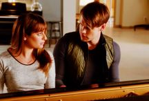 glee Rachel and Sam
