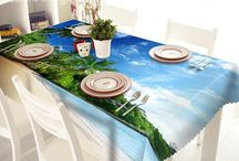3D Tablecloths / Protect your furniture with style-3D Tablecloths from bedding.com / by Bedding inn | Home Decor