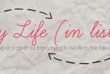 My Life - In Lists / www.mylife-inlists.blogspot.com