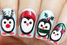 Uñas de navidad