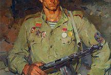 Батальное искусство. Армейские будни.  Горячие точки. Военный рисунок .