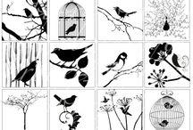 obrázky černobílé