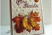 Fall & Thanksgiving Decor' / Fall is a time of football, leaves changing colors, and Thanksgiving with the family. Get inspired by these cards and decorations which represent this time of year.  / by Top Dog Dies