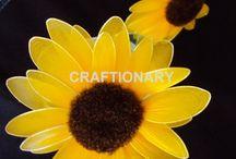 Tutorial - nylon sunflower