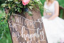 blackboard art weddings