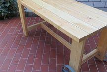 Zahradní stůl / Stůl s kolečky