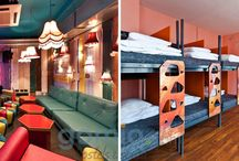 10 Design Hostels in Europe / Design Hostels are popping up all over Europe and they are getting more popular than ever before. These hostels are not just a well-designed hostel type of accommodation. They are a mirror of the local design and art culture, combining the beauty of design with a comfortable atmosphere of a hostel.  Gomio.com collected for you 10 Design Hostels in Europe you should not miss!