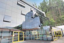Scuola professionale Brunico (BZ) / Fornitura e posa di faccaite continue, serramenti in alluminio