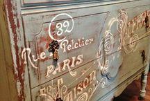Old furniture remodeling