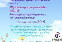 """Warsztaty 23.04.2016r. / Zapraszamy na Warsztaty """"Kreatywna Wiosna"""" w Projekt FAN"""