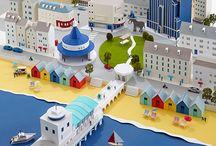 街の模型・ジオラマ