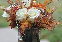 arrangement autumn leaves