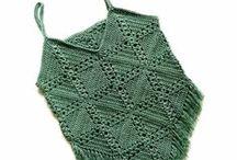 Crochet granny square tops
