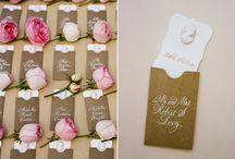 Wedding invites and seating plans