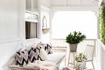 White Verandah floor