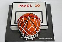 Basketbalový míč - dort