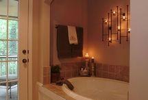 fürdőszobák, kövek és burkolatok