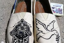Toms Custom Painted Shoes / These are some Toms shoes that I have custom painted for Style Your Sole events
