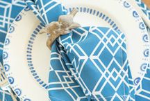Dinner Napkins / Wrinkle free, made in America, colorful dinner napkins to brighten your table.