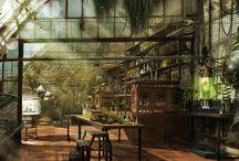 Interior Concepts / Environment Concepts for future use, no real photos.
