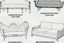 historical names of sofa