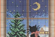 cross stitch Windows