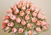 Flori de hartie creponata