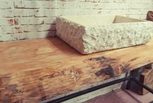 bagno arredo design italiano / arredamento da bagno in legno massello costruito in italia artigianato italiano made in italy www.xlab.design