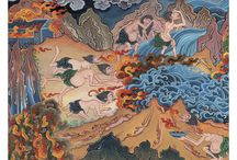 Tibetan hell realms... demons, hungry goosts and suffering beings...