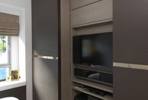 TV cabinet and wardrobe