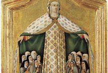 Сано ди Пьетро,  Ансано ди Пьетро (итал. Sano di Pietro) — итальянский художник, сиенская школа. / Сано ди Пьетро был разносторонним художником.  В 1428 году он был принят в Арте дель Питтори — сиенскую гильдию художников одновременно с Джованни ди Паоло и Сассеттой. Сано ди Пьетро раскрашивал и золотил крестильню сиенского баптистерия, созданного по проекту Сассетты, в 1432 году помогал ему в работе над алтарной картиной «Снежная мадонна». Сано пользовался большим почетом и уважением в родном городе