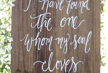 WEDDING SIGNAGE / Stationary, Invitations, Wedding Signs, Menus, Thank You's, Wedding Banner