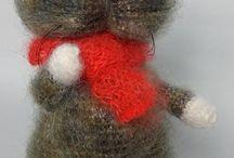 Amigurumi Doll Cat Toy