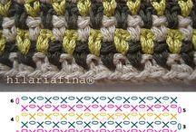 pontos de crochet