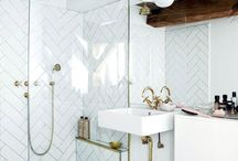 Beautiful Bathrooms and Brass Towel Stand