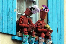 Plant pot men and more / What to do with left over plant pots