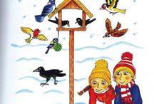 ptáci a zvířata v zimě